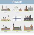 Finland Symbols of cities vector image