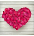 Heart made from rose petals EPS 10 vector image