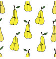 pattern with pears vector image