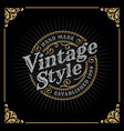 vintage luxury banner template design vector image
