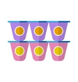 Yogurt flat icon vector image