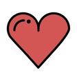 heart love card icon vector image