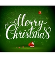 Merry Christmas inscription and Santa Claus with vector image