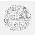 Blood Donation round vector image vector image