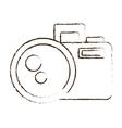 sketch draw photo camera picture image icon vector image vector image