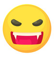 angry smiley icon cartoon style vector image