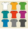 Colorful t-shirts template vector image