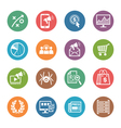 SEO Internet Marketing Icons Set 3 - Dot Series vector image