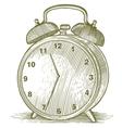 Woodcut Clock vector image vector image
