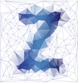 letter Z low poly vector image vector image