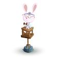 rabbit doctor vector image vector image