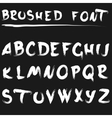 Brushed font white vector image