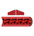 Blood Boxer Blood cells in form of boxing gloves vector image