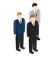 Businessmen icon isometric 3d style vector image