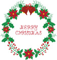 Christmas wreath with bell vector image