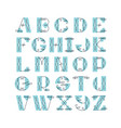 elegant retro graphical decorative font vector image