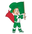 Fan with flag of Italy vector image