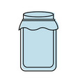 glass jar with cap filled with honey vector image