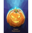Low poly polygon pumpkin for Halloween vector image