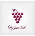 stylized grapes design element logo vector image