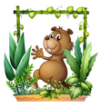 cartoon brown beaver vector image