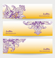 set of three indian banners vector image