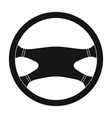 steering wheelcar single icon in black style vector image