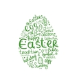 Easter egg sketch for your design vector image