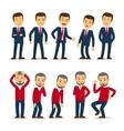 Businessman emotions vector image