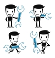 funny cartoon helper man vector image vector image