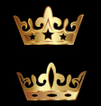 crowns royalty vector image