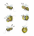 Funny Cartoon Bee vector image
