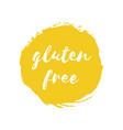 gluten free round stamp vector image