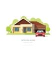 Home facade contemporary modern American house vector image