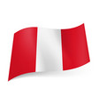 national flag of peru presented as three vertical vector image
