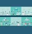 nurse health care decorative icons set with vector image