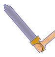 pixelated hand holding sword weapon video game vector image