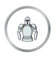 Plate armor icon in cartoon style isolated on vector image
