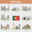 Portugal Symbols of cities vector image