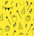 seamless birthday pattern decorative background vector image