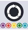 Stock Linear icon three arrows vector image