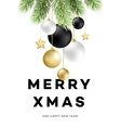 Traditional Christmas decoration elements Modern vector image
