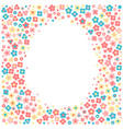 frame with tiny flowers in a cartoon style vector image