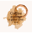 with Coffee is always a good idea phrase a vector image