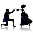 Dancing couple vector image
