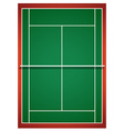 Aerial view of badminton court vector image