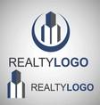 realty logo 5 3 vector image