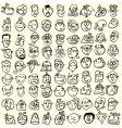 Doodle cartoon face caricature vector image