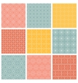 Geometric patterns Set of seamless vector image