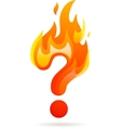 Hot question mark icon vector image